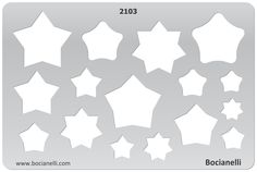 2103 Art and Craft Design Template Stencil for Jewellery Making Drawing and Drafting - Star Stars