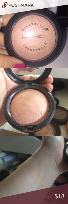 MAC Shimmer Skinfinish Brightens and shimmers brand new just used to swatch MAC Cosmetics Makeup Face Powder