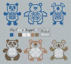 Мои творилки *** Aliolka design: Панда, медведь, коала