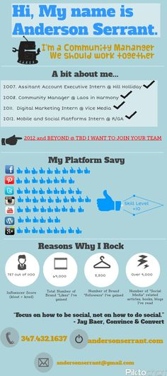 Social Media Manager Resume Infographic Are Online Colleges Really Accredited  Colleges