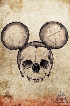 mickey mouse skull - would make a great coaster