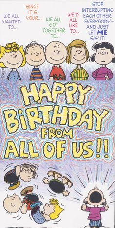 Peanuts Happy Birthday from All - Happy Birthday Funny - Funny Birthday meme - - Peanuts Happy Birthday from All The post Peanuts Happy Birthday from All appeared first on Gag Dad. Peanuts Happy Birthday, Happy Birthday Quotes For Friends, Birthday Wishes For Kids, Snoopy Birthday, Funny Happy Birthday Pictures, Birthday Card Sayings, Birthday Wishes Quotes, Happy Birthday Meme, Birthday Love