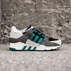 Adidas Women EQT Support 93 black core black eqt green off white