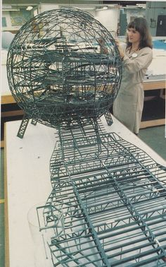 Spaceship Earth model from 1980 notice inside the ride track inside it via @epcotexplorer - Cool!!