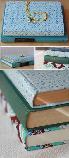 Fabric Covered Book Tutorial - must try this.