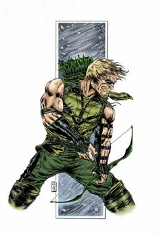 Green Arrow colours 2011 by barfast Comic Book Characters, Comic Book Heroes, Comic Character, Comic Books Art, Comic Art, Superman, Batman, Green Arrow, Arsenal