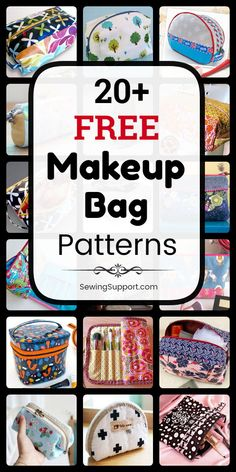 Makeup Bag Patterns to sew. free makeup & cosmetic bag patterns, tutorials, and diy projects to sew. Sew small and l Bag Pattern Free, Bag Patterns To Sew, Sewing Patterns Free, Free Sewing, Sewing Makeup Bag, Makeup Bag Pattern, Diy Sewing Projects, Sewing Tutorials, Sewing Hacks