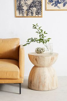 Anthropologie Betania Side Table, Hourglass