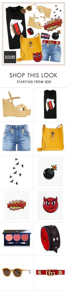 """DIZAIND BAGS: Sticker Up New Leather Stickers!"" by carola-corana ❤ liked on Polyvore featuring Yves Saint Laurent, Neil Barrett, Moschino, Hermès, Vapour Organic Beauty, Anonyme, Thierry Lasry, Gucci and dizaind"