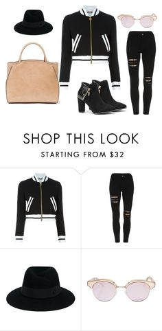 """""""Sporty set"""" by polandieu ❤ liked on Polyvore featuring Moschino, Maison Michel and Le Specs"""
