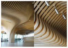 one main decoi architects Architecture Company, Commercial Architecture, Interior Architecture, Vestibule, Conception Paramétrique, Cofee Shop, Brookfield Place, Plafond Design, Parametric Design