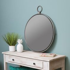 "Lily Gray 25.5"" x 30.5"" Oversized Wall Mirror - Grey - N/A"