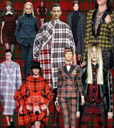 Tartans and plaids inspiration, fall 2013. Bring this style into the home this winter with oversized squares, checks, grid prints and tartan textiles. Mix with tweed, dogtooth print, gingham, leather, fur, sheepskin, wool, cable knits, nature/wildlife prints and natural materials.