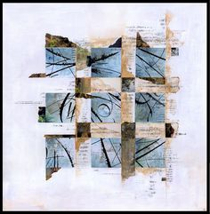 mixed media collage/grid
