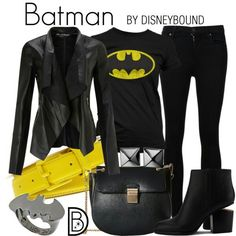 DisneyBound is meant to be inspiration for you to pull together your own outfits which work for your body and wallet whether from your closet or local mall. As to Disney artwork/properties: ©Disney.>>BATGIRL not Batman. Other Outfits, Edgy Outfits, Cute Outfits, Fashion Outfits, Punk Fashion, Rock Outfits, Lolita Fashion, Skater Outfits, Skull Fashion