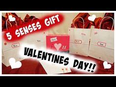 DIY 5 SENSES GIFT FOR VALENTINES!! FOR YOUR BOYFRIEND/HUSBAND! - YouTube