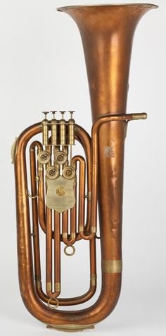 Top action rotary valve bariton horn (Higham, mid 19th c.)