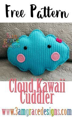I've seen several adorable fabric clouds floating through crafty internet land. While I own a sewing machine – we often fight. My machine always wins! Therefore, I knew in order to bring some cloud cuteness into my world I'd have to find a way to crochet one! Below is how I created my Cloud Kawaii …