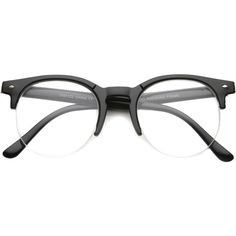 Indie Dapper Round Half Frame Clear Lens Glasses a061 (421.940 IDR) ❤ liked on Polyvore featuring accessories, eyewear, eyeglasses, glasses, clear eyeglasses, clear glasses, clear eyewear, uv protection glasses and half frame eyeglasses