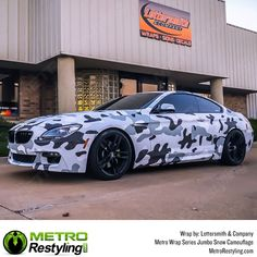 Metro Jumbo Snow Camo vehicle wrap by Lettersmith & Company. Vinyl wraps available at Metro Restyling. Best Camouflage, Vinyl Wrap Car, Cooper Car, Car Steering Wheel Cover, Car Interior Decor, Camo Colors, Digital Camo, Car Prices, Blue Camo