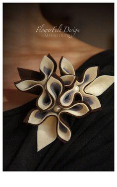 couleurs d'automne felt brooch tangerine brooch by MargoHupert, $19.00