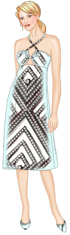 preview - #5585 Dress On Straps
