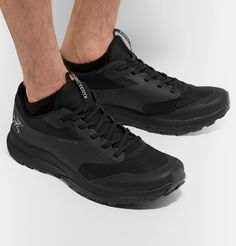 Arc'teryx Norvan Ld Gore-tex And Mesh Running Sneakers In Black Running Sneakers, Air Max Sneakers, All Black Sneakers, Running Shoes, Sneakers Nike, Wet And Dry, Gore Tex, Sports Shoes, How To Run Longer