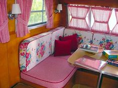 vintage schultz travel trailer interior | My Sister's Cottage: Come Along With Us