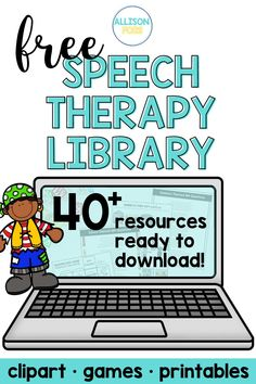 40 FREE Speech Therapy Activities
