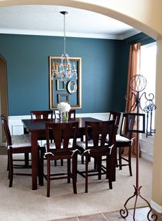 Navy Blue Dining Room Decor Ideas House & Home Dining