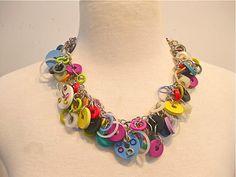 I love this necklace with circles of many colors. It weighs as much as a feather.  by BernsenArts - $80