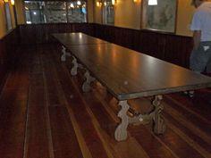 120 x 38 Arcadia Kitchen Table in Custom Ash from Erik Organic Arcadia Furniture, Dining Room Furniture, Ash, Building A House, Dining Table, Organic, Kitchen, Room Ideas, Home Decor