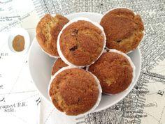 Muffins de plátano con glaseado de canela