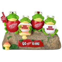 Detroit Red Wings Frog Bench Lawn Accessory for the Frog Garden!
