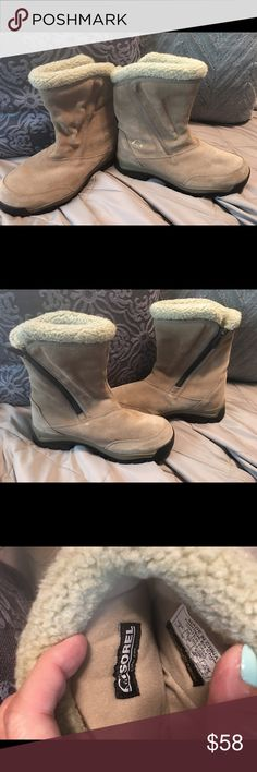 Women's Sorel Boots Excellent Condition- worn few times- Super Comfortable - Thinsulate Ultra insulation- Waterproof Sorel Shoes Winter & Rain Boots