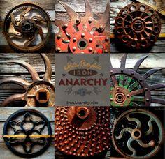 Antique Industrial Cast Iron Gear Sculpture Machine by IronAnarchy
