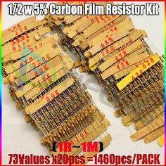 5/% 25x R/ésistances carbone 22K Ohms 1//2 Watts //