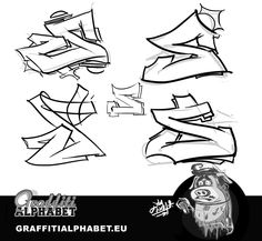How to Draw S in Graffiti Letters Really slick!