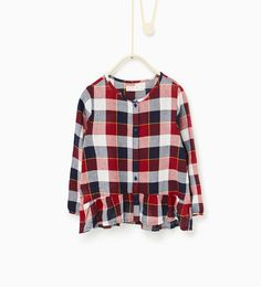 Frilled check top - Available in more colours