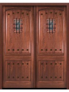 Exterior Double Door, Knotty Alder, Southwest Home [46, made byAAW ...