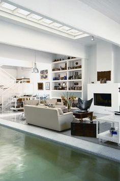modern sicilian living room with pool