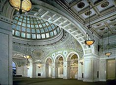 chicago cultural center - Preston Bradley Hall. Michael and I had our wedding reception here.