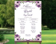 Items similar to Wedding Program Sign Wedding Program Sign, Ceremony Programs, Wedding Signs, Photo Booth Frame, Floral Theme, Cream Roses, Party Poster, Our Wedding Day, Bridal Shower