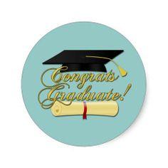 Congrats Graduate #Diploma and #Graduation hat blue sticker by #PLdesign #GraduationGift #Sticker  #CongratsGraduate