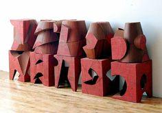 Red Blocks: Installation View, Mel Kendrick (American, b.1949)