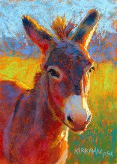 "Daily Paintworks - ""Serrano - day - Original Fine Art for Sale - © Rita Kirkman Paintings I Love, Animal Paintings, Donkey Drawing, Fine Art Auctions, Art For Art Sake, Pastel Art, Equine Art, Western Art, Horse Art"