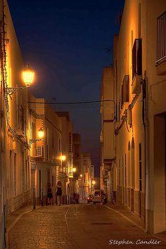 Night time in Conil de la Frontera, Spain