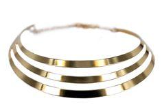 """Collier Angkor Thom"" - Large et gros collier doré"