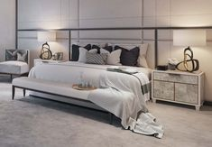 Master Bedroom Detail, St James Penthouse - Morpheus London - Dream Homes