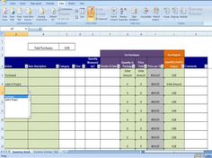 Materials Inventory Tracking Template Calculates Amount Of Materials  Available On Handmade Artists Shop  Microsoft Office Inventory Template